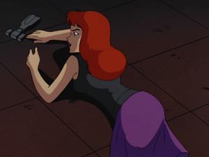 Barbara Gordon falls after trying to help Batman