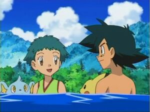 Ash and Angie in Water