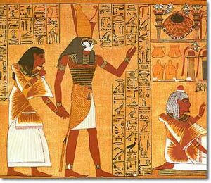 Horus hieroglyphs