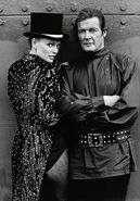 Roger Moore as James Bond and Kristina Wayborn as Magda in James Bond Octopussy in 007 James Bond Octopussy 1983