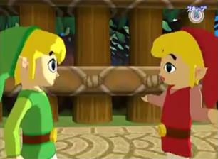 Toon Link and Red Toon Link