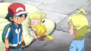 Ash meets Clemont and Bonnie