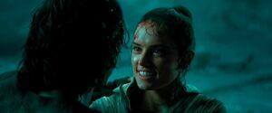 Rey smiles at Ben