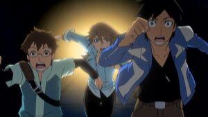 Chase, Jinja and Bren run