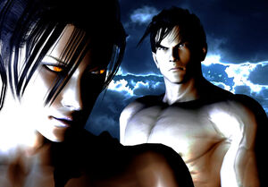 Mother and son unknown with jin kazama by shannyyums-d5wlkym
