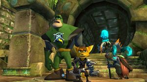 Ratchet, Qwark and Alpheus