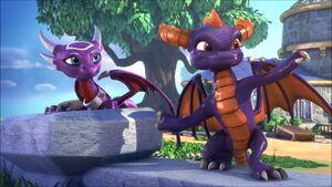 Spyro speaks with Cynder