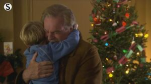 A Dennis The Menace Christmas dennis and george hugging