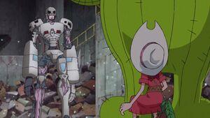 Andromon vs Togemon & Mimi