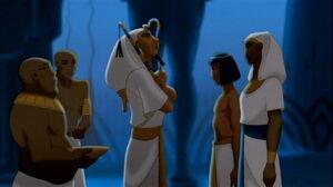 Joseph meeting Pharaoh