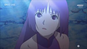 Sumire crying in front of boruto who came to help