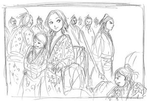 Kingdom v28's Gyoku Hou and Gaku Ka sketch
