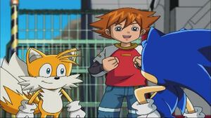 Tails with Sonic and Chris