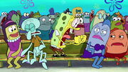 SpongeBob screaming excitedly
