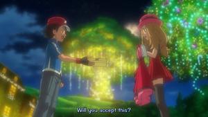 PKMXYEP59 - Ash Gives Blue Ribbon to Serena