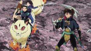 Kirara, Hisui, Setsuna and Kohaku