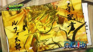 Luffy New Eyecatch in Wano
