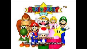Mario party 64 tittle screen
