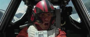 Poe piloting - The Force Awakens