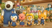 Pororo and friends racing suits