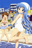 Yande.re 161173 aizawa eiko feet honda yoshino ikamusume nagatsuki sanae shinryaku! ikamusume swimsuits