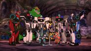 Bee Team with Dropforge and Autobot officers