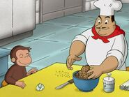 Chef and george making burgers