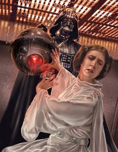 Princess Leia at the mercy of Darth Vader