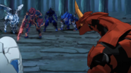 Drago looks at his friends