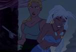 Kida held prisoner by Rourke and Helga
