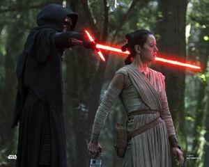 Kylo meets Rey on Takodana - TFA