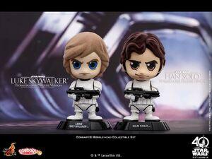 Cosbaby Bobble-Heads Luke Skywalker and Han Solo