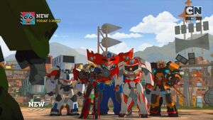 Optimus Prime is back to Earth with his friends