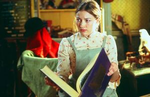 Evangeline reading a book