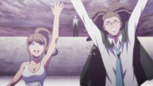 Farewell from Asahina, Hagakure, and Naegi