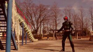 Kamen Rider Black RX saw something