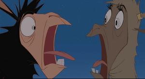 Kuzco comical scream