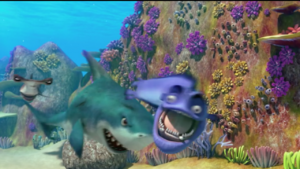 Shark tosses Eddie