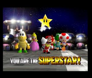 Mario party 2 mario peach yoshi dk koopa tropa and toad in Space Land