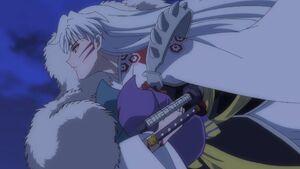 Sesshomaru carries Setsuna & Towa as newborn babies