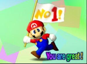 Super Smash Bros 64 mario congratulations screen