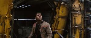 Finn looking up