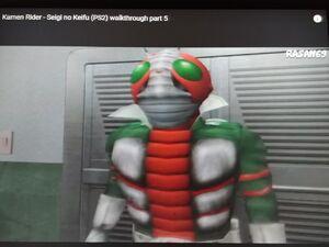 Kamen Rider V3 is at the office