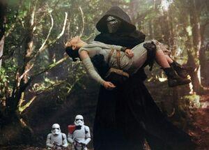 Kylo Ren kidnaps Rey