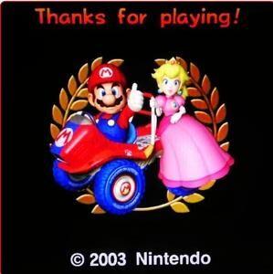 Mario kart double dash mario and peach in the Ending