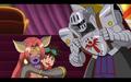 Mikey, Knightmon and Beastmon