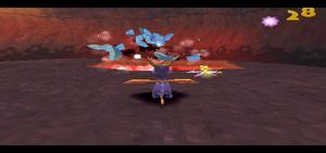 Spyro 2 Ripto's Rage! Spyro Killing Earthshapers in Fracture Hills