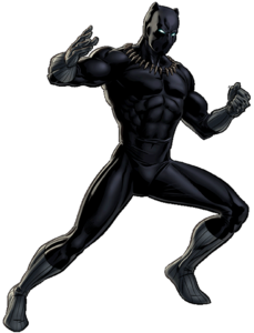 Black Panther Portrait Art