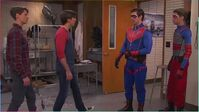 Henry and Ray meet Captain Man and Kid Danger