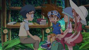 Joe, Taichi, Sora and Mimi